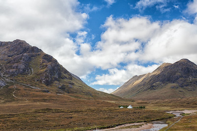 Lagangarbh sits on the River Coupall and is the start of the trail to Buachaille Etive Mor.  Scotland.