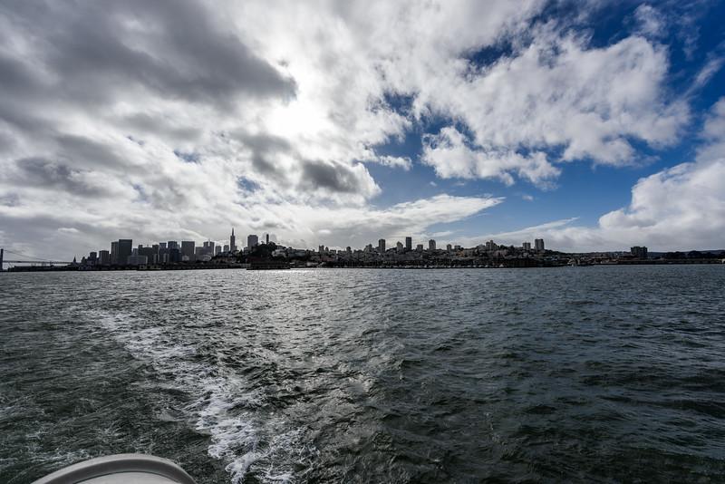 Boat to Alcatraz Island