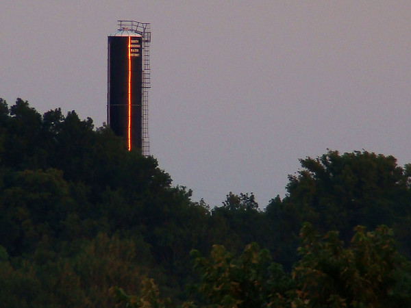 Water Tower at sunset, about 1 mile