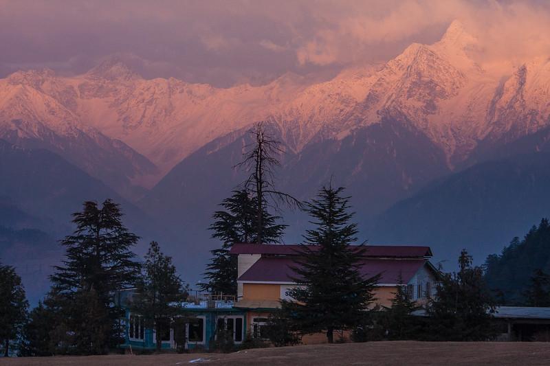 Winter snow on the peaks near Shogran, Kaghan