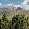 """This is our destination, as seen from the trailhead: Makra (""""Spider"""") peak, elevation 12,750 ft. We ended up camping halfway up the shoulder and summitted the next morning. The trailhead is at around 10,000 ft elevation."""