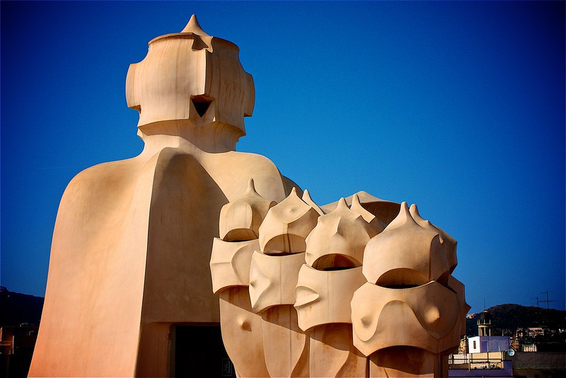 Casa Milà (La Pedrera), Antonio Gaudi, Barcelona, Spain