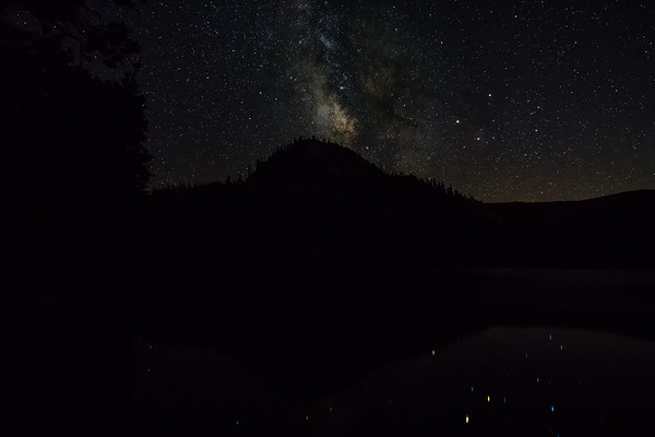 The Milky Way reflecting in Dardanelles Lake