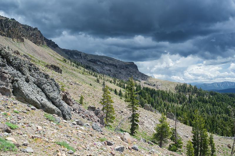 Thunderheads forming over Castle Peak.