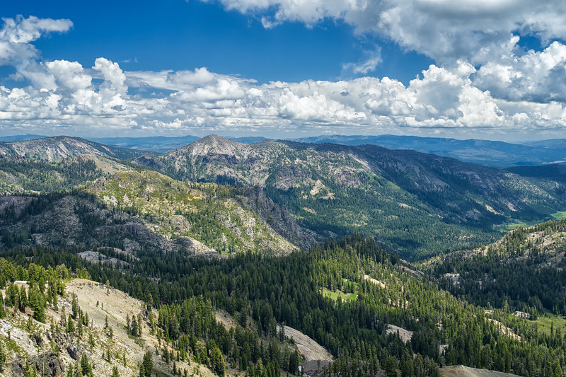 Carpenter Ridge and Carpenter Valley, east of Castle Peak.