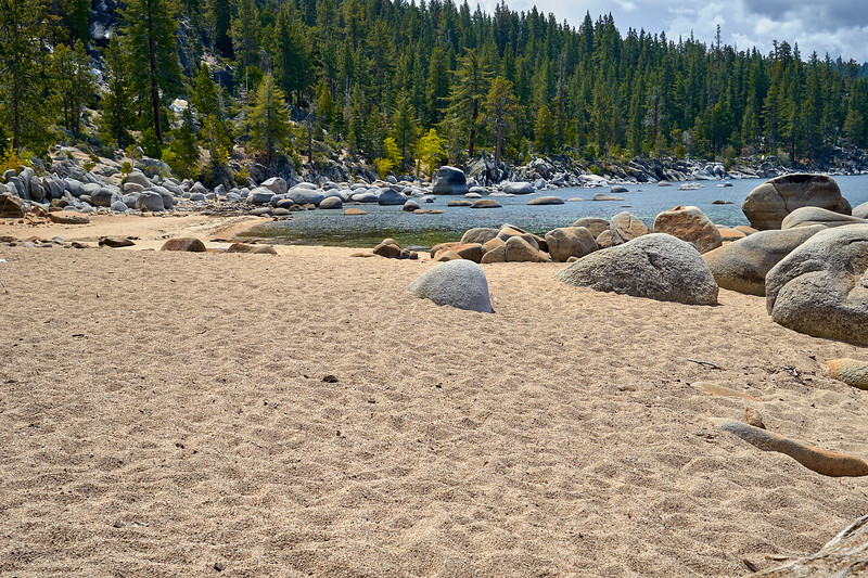 North end of Chimney Beach, looking south.