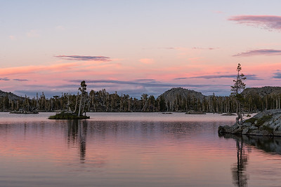 Sunset at Middle Velma Lake