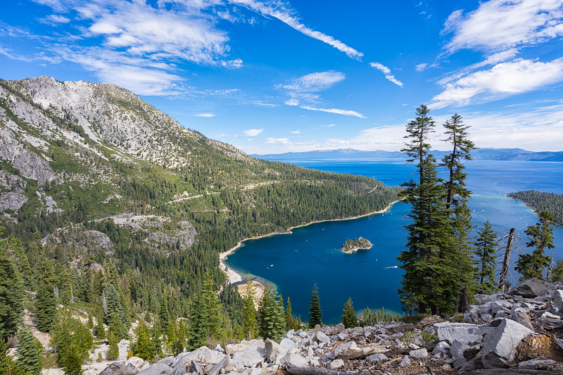 Emerald Bay from the vista on the Bayview Trail.