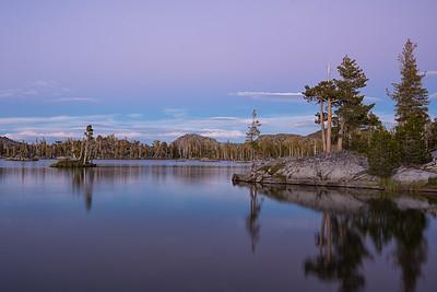 Sunset at Middle Velma Lake