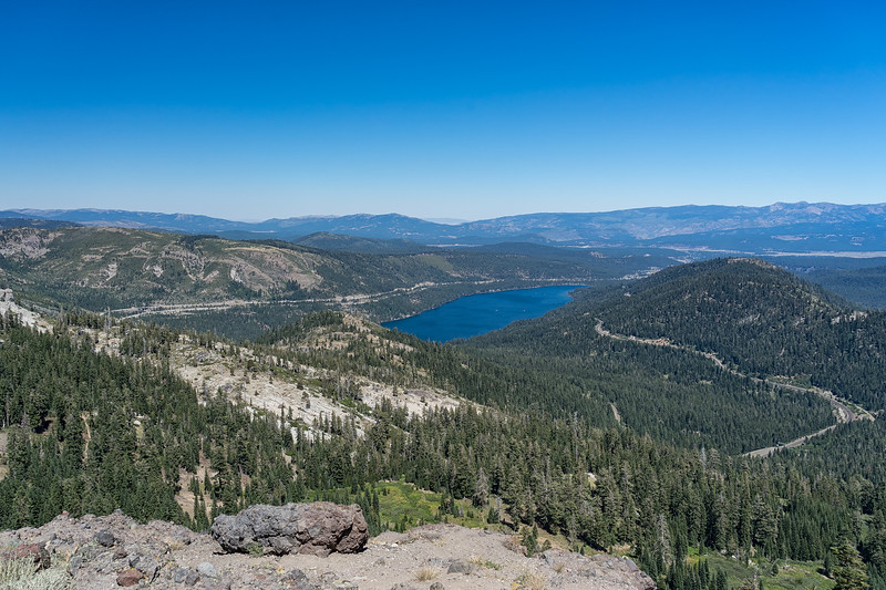 Donner Lake from Mt. Judah.