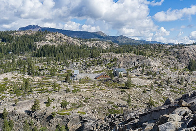 Views of the parking lot area for the Mt. Judah Loop trail.