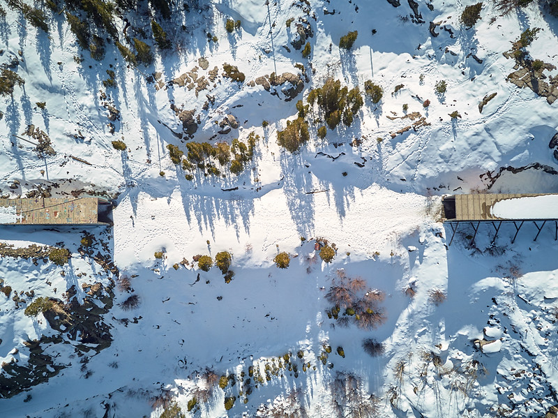 donner pass drone photo