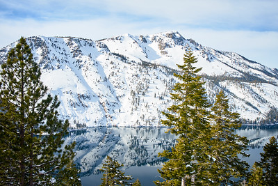 Fallen Leaf Lake and Mt. Tallac from the Angora Fire Lookout