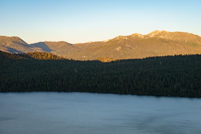 View east from across Fallen Leaf Lake