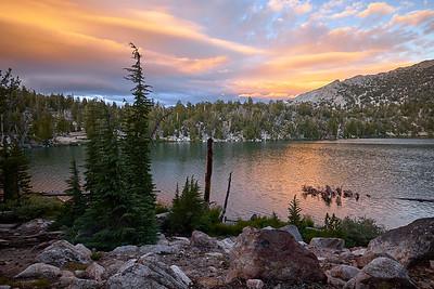 Sunset at Star Lake.