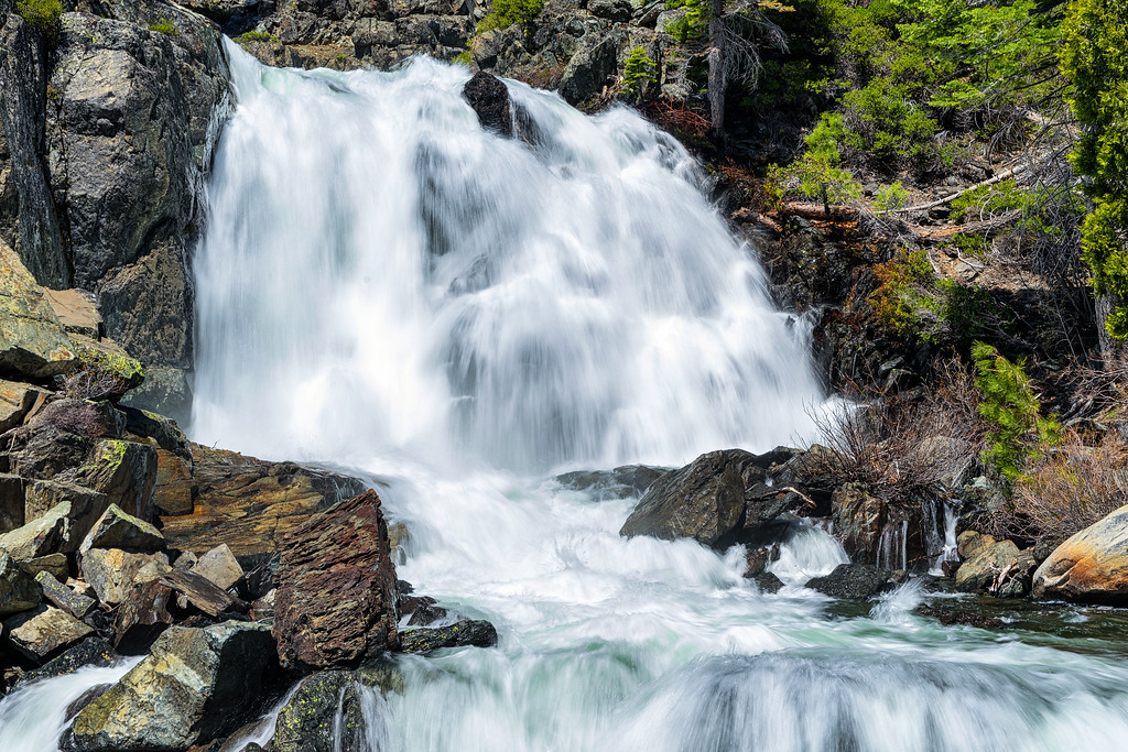 Madjeska Falls, also known as Upper Glen Alpine Falls, after a heavy winter.