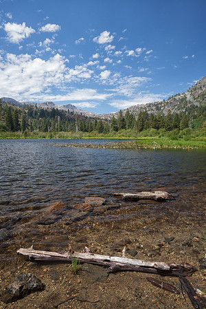 Looking west over Lily Lake in the Desolation Wilderness