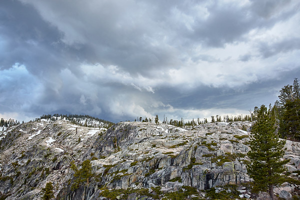 Convective activity building over the Granite Chief Wilderness near Squaw Valley & Alpine Meadows.