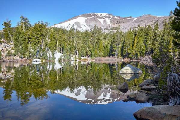 Like a mirror.  Five Lakes hike, Granite Chief Wilderness near Alpine Meadows and Squaw Valley.