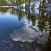 All of the lakes on the Five Lakes hike are shallow and very clear.