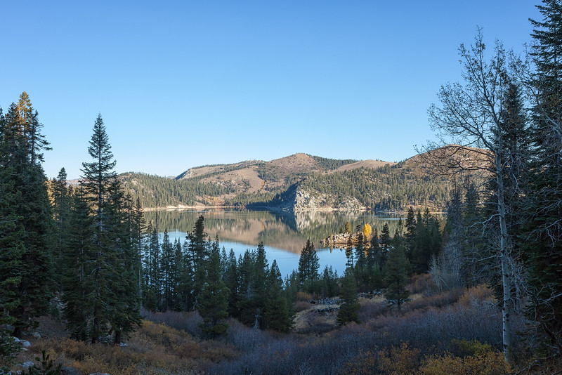 First views of Marlette Lake from the Marlette Lake Trail through North Canyon.