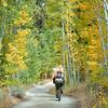 Mountain biking on North Canyon Road, near Spooner Lake in Lake Tahoe State Park.