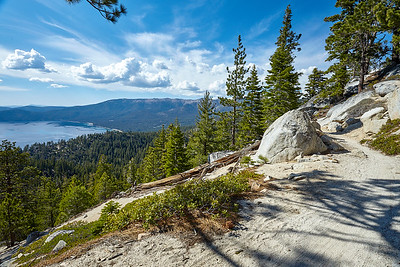 After leaving Tunnel Creek Road and starting the Flume Trail, with great views of Lake Tahoe.