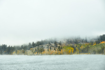 Early morning mist at Marlette Lake.
