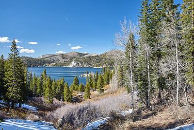 The Marlette Lake Trail descends a few hundred feet back down to Marlette Lake.