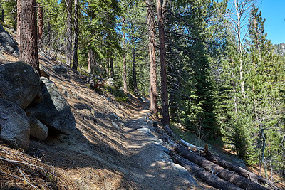 The Marlette Lake Trail after starting the climb from North Canyon Road.