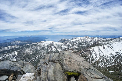 Looking south from Mt Rose Summit.