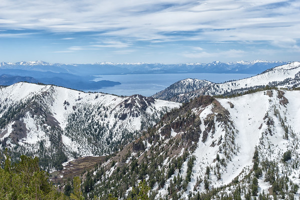 Looking over the trail to Lake Tahoe, from Mt Rose.