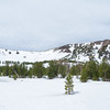 Snowfield on the Mt Rose Summit trail, upon entering the boundary for the Mount Rose Wilderness.