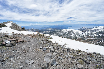 The ridge on the top of Mt Rose.