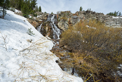 The Mt Rose waterfall, two and a half miles into the trail to the summit.