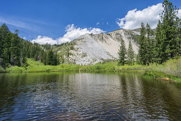 Upper Price Lake.  Slide Mountain is behind it.  You can see where it gets its name!