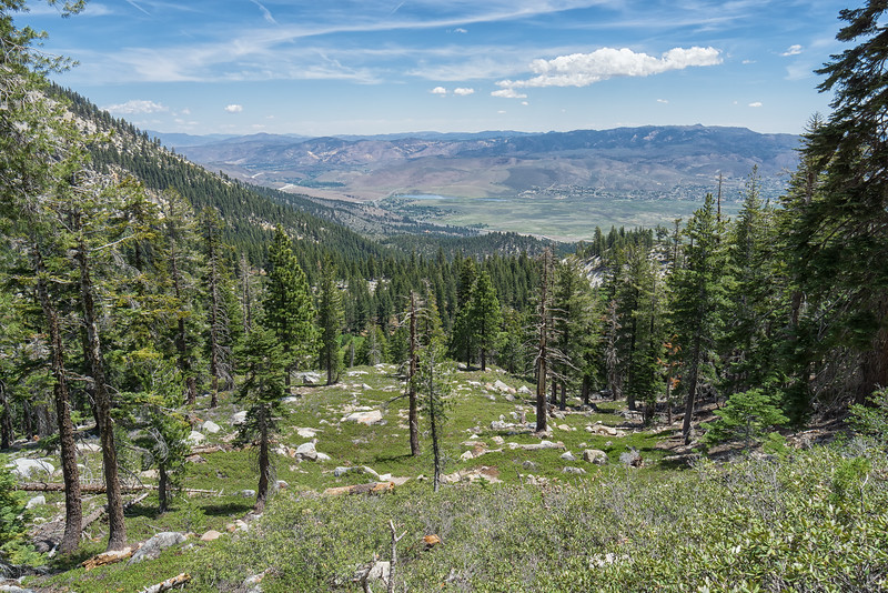 Views of Washoe Valley from the Ophir Creek Trail