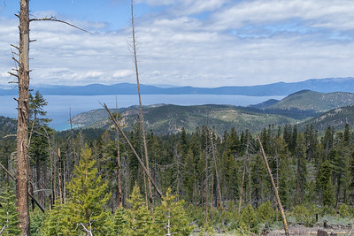 View of Lake Tahoe from the Tahoe Rim Trail, Spooner to South Camp Peak trail.  Glenbrook just barely visible.