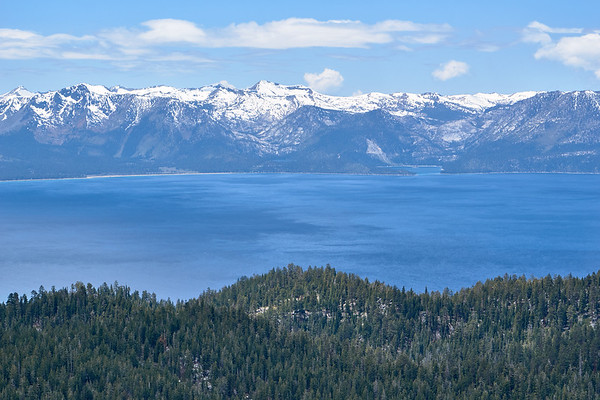 Emerald Bay and Cascade Lake from South Camp Peak, along the Tahoe Rim Trail.