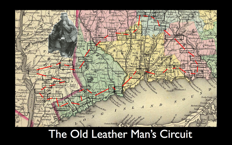 The Old Leatherman's Estimated Route