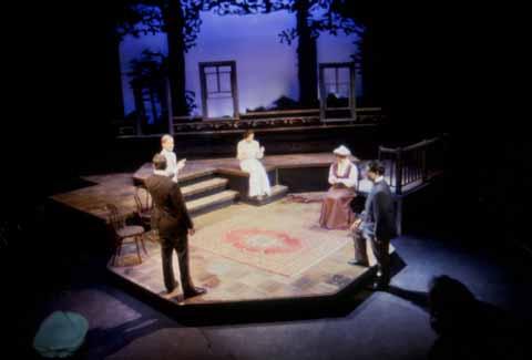Ah, Wilderness by Eugene O'Neill. Directed by John R. Briggs. Performed May 7-10, 1997<br /> in the Studio Theatre. Scenic Design: Matt Kizer. Lighting Design: Matt Kizer. Costume Design: Jane Stein.