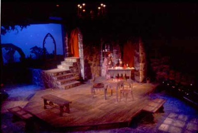 The Lady's Not for Burning by Christopher Fry. Directed by Paul Mroczka. Performed October 16-26, 1996 in the Studio Theatre. Scenic Design:Matt Kizer. Lighting Design Matt Kizer. Costume Design: Virginia Fisher.