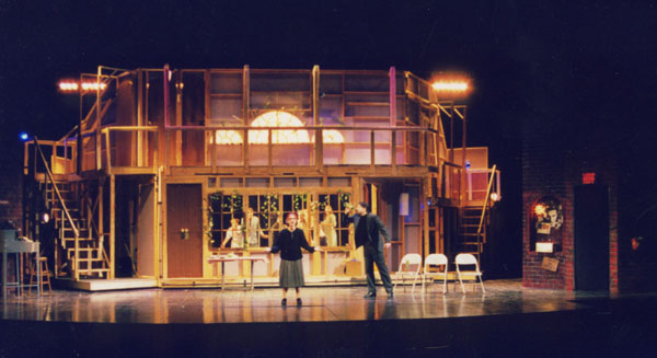 Noises Off by Michael Frayn. Directed by Elizabeth Cox. October 20-24, 1998 in Hanaway Theatre. Scenic Design: Matt Kizer. Lighting Design: Liza Williams. Costume Design: Matthew Brown