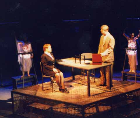 Springfest celebrated student written, student directed one-act plays in Spring 1999. Studio Theatre. Scenic Design: Bob Bruemmer. Lighting Design: Matt Kizer. Costume Design: Matthew Brown.