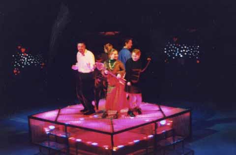 Springfest celebrated student written, student directed one-act plays in Spring 1999. Studio Theatre. Scenic Design: Bob Bruemmer. Lighting Design: Matt Kizer. Costume Design: Matthew Brown.