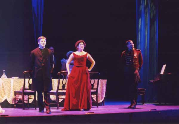 A Little Night Music<br /> by Stephen Sondheim<br /> April 4-7, 2000, Hanaway Theatre.<br /> Produced by Plymouth State Theatre and The Music Theatre Company<br /> Directed by Kathleen Arecchi.<br /> Scenic and Lighting Design: Matt Kizer<br /> Costume Design: Linda Pisano