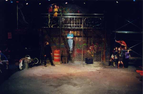 Godspell<br /> by Stephen Schwartz<br /> November 14-18, Studio Theatre<br /> Produced by The Music Theatre Company<br /> Directed by Elizabeth Cox<br /> Scenic Design: Jill Gagnon<br /> Lighting Design: Stuart Crowell<br /> Costume Design: Jamie Sacharko