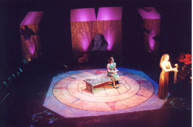 The Bard and Broadway<br /> November, 2001, Studio Theatre<br /> Directed by Kathleen Arecchi & Eva Nagorka<br /> Scenic Design by Matt Kizer<br /> Costume Design by Sarah Edmunds<br /> Lighting Design by Jesse Riley