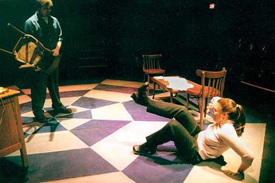 Oleanna<br /> by David Mamet<br /> Scenic and Lighting Design by Ben Aufill<br /> Costume Design by Angela Saddler