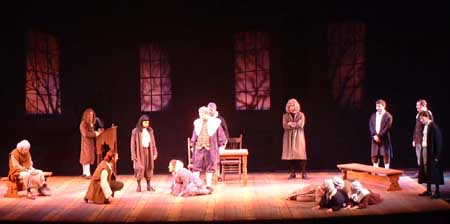 The Crucible<br /> by Arthur Miller<br /> October 23 - 27, Hanaway Theatre<br /> Directed by Kevin Gardner<br /> Scenic Design by Matt Kizer, Meagan Becker<br /> Costume Design by Angela Pitrone<br /> Lighting Design by Ben Aufill